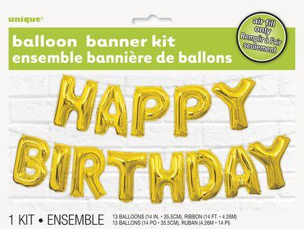 Ballon banner Happy Birthday Golde