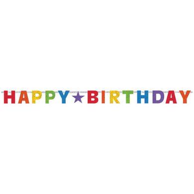"""Banner """"Happy Birthday"""" - prismatisch"""