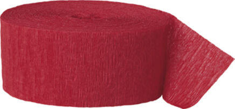 Krepp-Luftschlange – rot