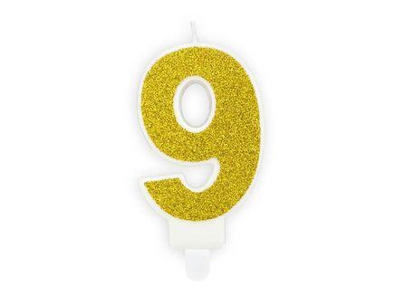 """Geburtstagskerze Zahl """"0"""" - gold"""