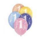 Latexballons mit Zahlen