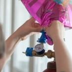 Helium-Befüllung von Ballons