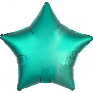 Folienballon Stern Satin Luxe Blaugrüne
