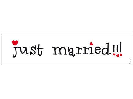 Kfz-Kennzeichen Just Married Herzen