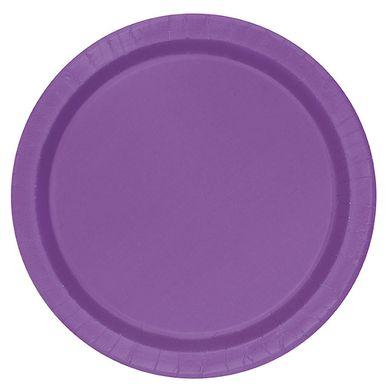 Große Pappteller - violett (16 St.)