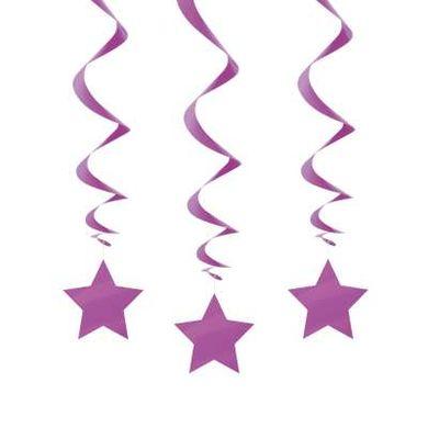 Wirbel Hängedeko Violette Sterne